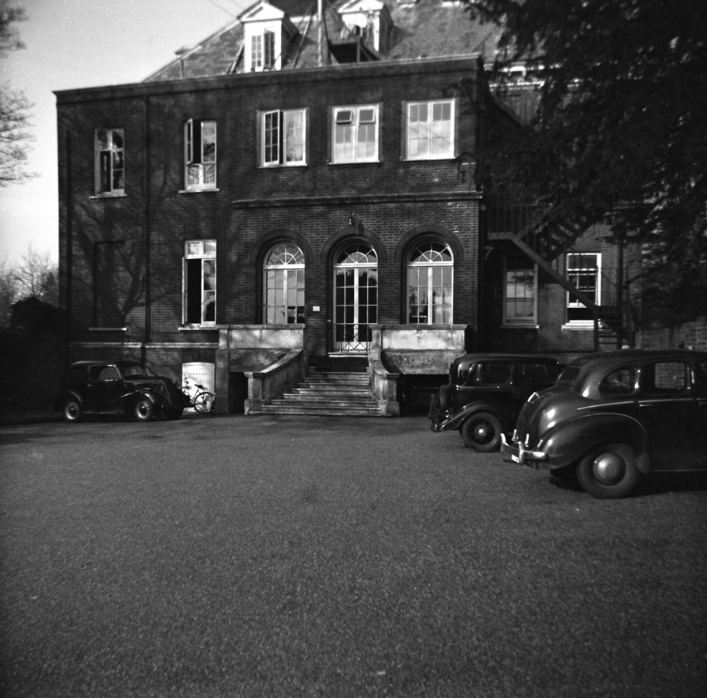 Exterior of Main Building, Tadworth Court hospital. 1957.