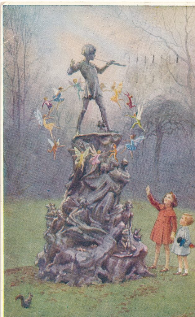 Post card of Peter Pan.